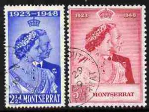 Montserrat 1949 KG6 Royal Silver Wedding perf set of 2 fi...