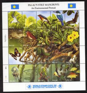 Palau 221 MNH Birds, Flowers, Fish, Bat, Snake, Crocodile, Insect, Shell