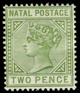 SOUTH AFRICA - Natal SG107, 2d olive-green, M MINT. DIE II