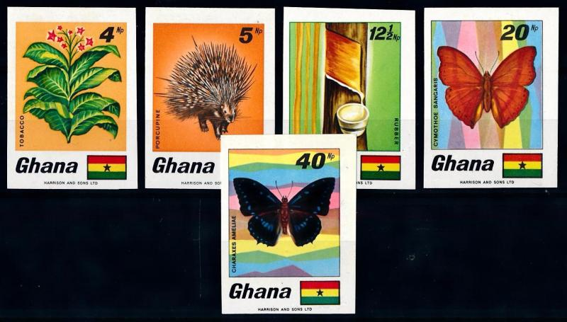 [66542] Ghana 1968 Flora Plant Tobacco Butterflies Imperf. MNH