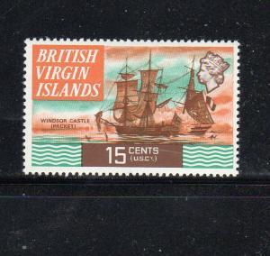 VIRGIN ISLANDS #216a  1973  15c QEII & WINDOR CASTLE        MINT VF NH O.G