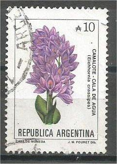ARGENTINA, 1990, used 10a, Flowers, Scott 1683