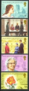 GUERNSEY 1984 ANNIVERSARIES AND EVENTS Set Sc 274-278 MNH