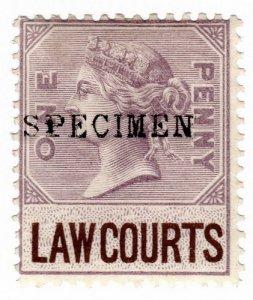(I.B) QV Revenue : Law Courts (Scotland) 1d (1873) specimen