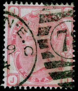 SG144, 3d pale rose plate 15, USED. Cat £80. JJ