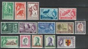Sarawak Scott 197-211 MH! Complete Set!