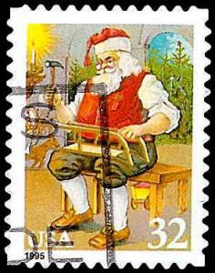 # 3008 USED SANTA CLAUS WORKING ON SLED