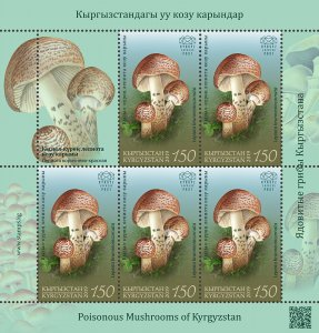 Stamps of Kyrgyzstan 2019. - Minisheet.  124L. Deadly Dapperling.