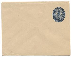 India Travancore Cochin unused one-Anna Government Stamped Envelope, Elephants