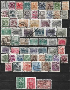 COLLECTION LOT OF 62 AUSTRIA 1925+ STAMPS