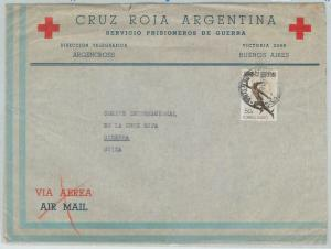 78981 - ARGENTINA - POSTAL HISTORY -  RED CROSS POW prisoner  COVER 1945