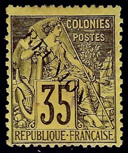 Reunion Sc #25 Mint F-VF SCV$75...French Colonies are Hot!