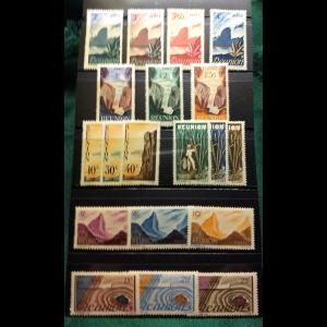 French Reunion, #249-267, MH, Full Set of (19). CV $30.00