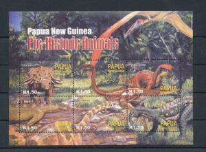 Papua New Guinea MNH S/S PreHistoric Animals Dinosaurs