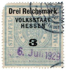 (I.B) Germany Revenue : Hessen Duty 3RM