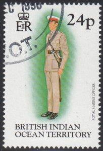 BIOT 1996 used Sc #186 24p Royal Marine officer Uniforms