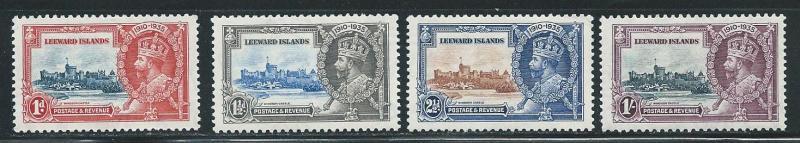 Leeward Islands 96-99 1935 Silver Jubilee set MLH