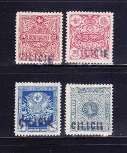 Cilicia J5-J8 Set MHR Overprints
