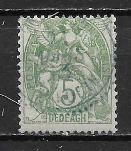 French Offices in Turkey - Dedeagh 9 5c single Used