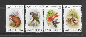 ST LUCIA #538-41  PROTECTED SPECIES  MNH