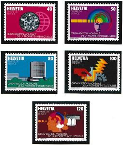 Switzerland for WIPO 11O1-11O5  MNH    1982