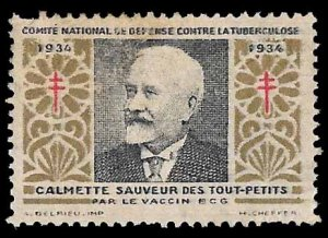 France 1934 Anti-Tuberculosis (TB) charity stamp/label