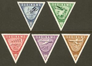 Surinam #277-81 NH Airport Triangles