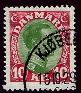 Denmark SC#131 Used F-VF SCV$55.00...Beautiful Denmark!