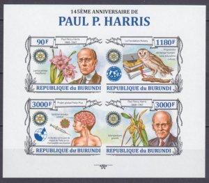 2013 Burundi 3118-3121KLb 145 years old Paul Harris 15,00 €