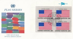 UN106) United Nations 1981 United States 20c Stamp - Flag Series FDC. Price: $8