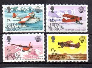 British Antarctic Territory 117-120 MNH