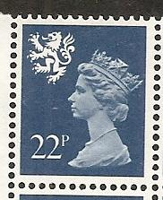 Great Britain Scotland SMH41 22p Machin MNH