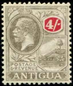 Antigua SC# 57 SG# 80 King George V 4sh wmk 4 MH