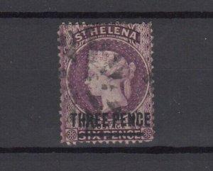 St Helena QV 1876 3d On 6d SG23 Fine Used JK6279