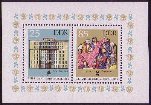 GDR Leipzig Autumn Fair MS issue 1986 SG#MSE2748 MI#Block 85