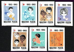 Hungary 1532-1538 Imp., MNH. Intl. Red Cross Cent. Girls & Boys of 3 races,1963