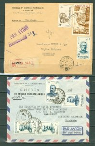 MADAGASCAR AIR LOT of (2) COVERS (ONE REGISTERD)