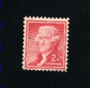 USA #1033  2 used 1954-1968 PD .08