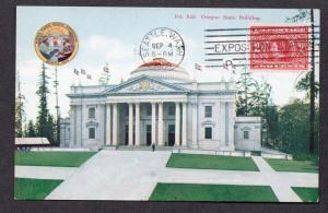 **US 1909 Alaska Yukon Pacific Expo Post Card #27, SC# 370, CV $65.00