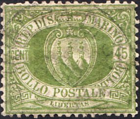 San Marino  #19 Used