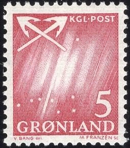 Greenland 49 - Mint-NH - 5o Northern Lights / Crossed Anchors (1963) (cv $0.30)