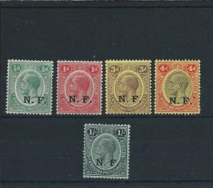 TANGANYIKA 1916 NYASALAND-RHODESIAN FORCE SET OF FIVE MM SG N1/N5 CAT £130