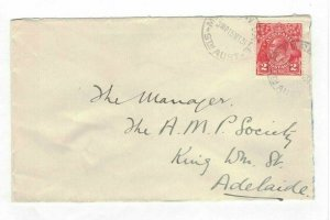 APH1430) Australia 1931 2d Red KGV Die I Small Cover