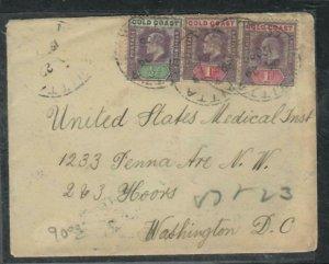 GOLD COAST COVER (P0506B) 1905 KE 1/2D+1DX2 COVER KWITTA TO USA