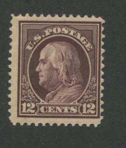 1914 US Stamp #417 12c Mint Hinged F/VF Original Gum