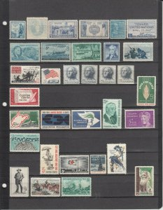 139 DIFFERENT US MNH 5 CENT STAMPS 2019 SCOTT CATALOGUE VALUE $42.30