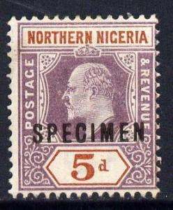 Northern Nigeria 1902 KE7 Crown CA 5d dull purple & c...