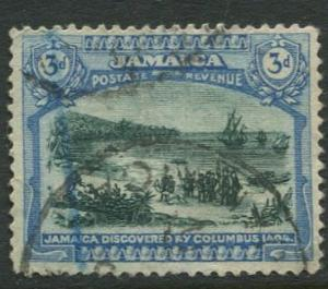 Jamaica -Scott 80 - KGV Pictorial Definitive -1921 - Used - Single 3p Stamp