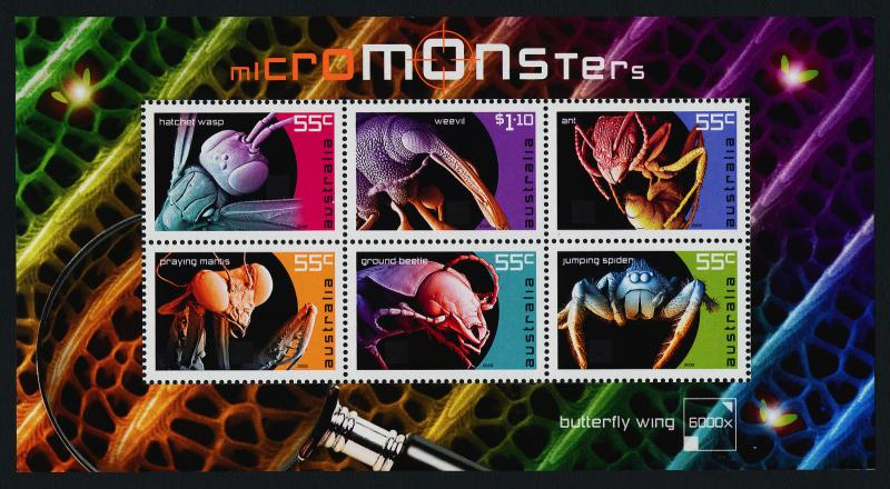 Australia 3125a MNH Insects, Spiders, Beetles