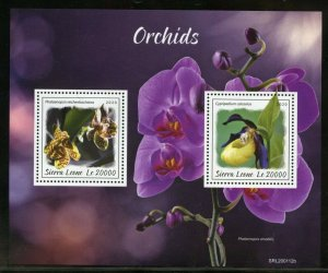 SIERRA LEONE 2019 ORCHIDS SOUVENIR SHEET MINT NH